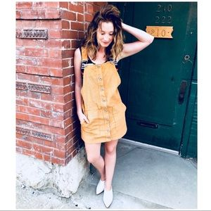 Drive Me Crazy Overall Dress